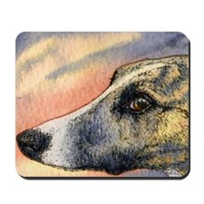 Brindle whippet greyhound dog Mousepad