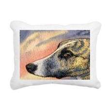 Brindle whippet greyhoun Rectangular Canvas Pillow
