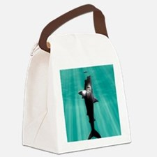 Megalodon prehistoric shark with  Canvas Lunch Bag