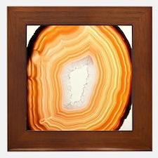 Agate slice Framed Tile