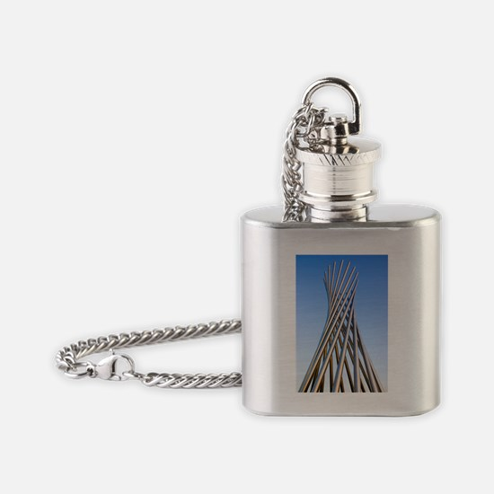 Metal sculpture at Fermilab Flask Necklace