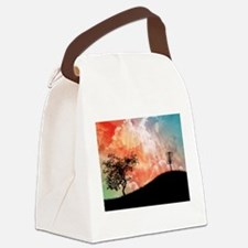 Basket On A Hill Canvas Lunch Bag