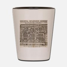 Map of Moscow, 16th century Shot Glass