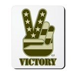Victory Sign Mousepad