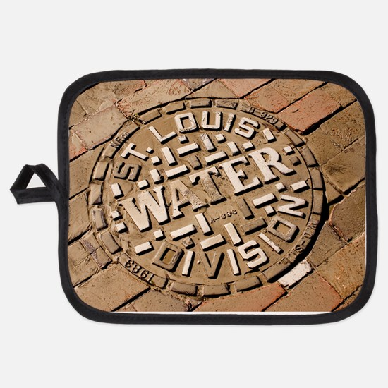 Manhole cover in St Louis Potholder
