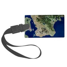 Malmo, satellite image Luggage Tag