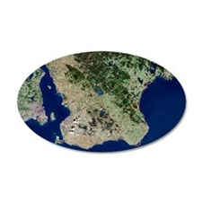 Malmo, satellite image Wall Decal