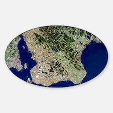 Malmo, satellite image Decal
