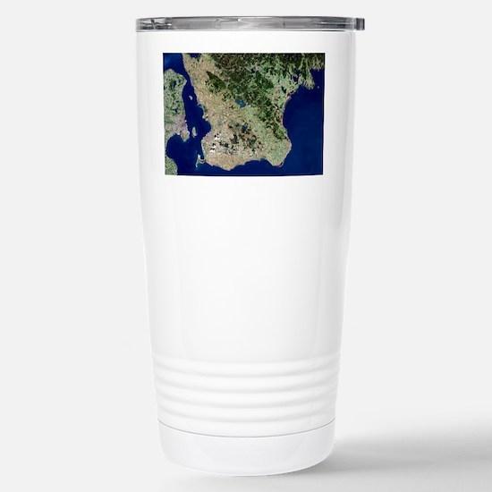 Malmo, satellite image Stainless Steel Travel Mug