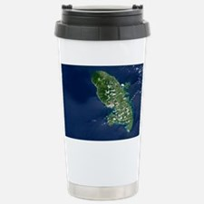 Martinique volcano, satellite i Travel Mug