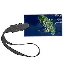Martinique volcano, satellite im Luggage Tag