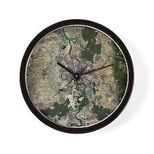 Mannheim, satellite image Wall Clock