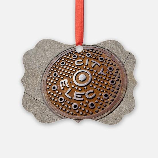 Manhole cover in Chicago Ornament