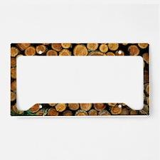 Logs License Plate Holder