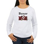 Boxer Dog Mom Gifts Women's Long Sleeve T-Shirt