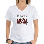 Boxer Dog Mom Gifts Women's V-Neck T-Shirt