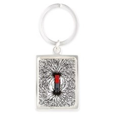 Magnetic field Portrait Keychain