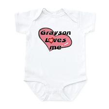 grayson loves me  Infant Bodysuit