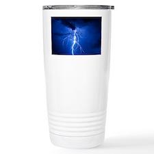 Lightning strikes mountain at n Travel Mug