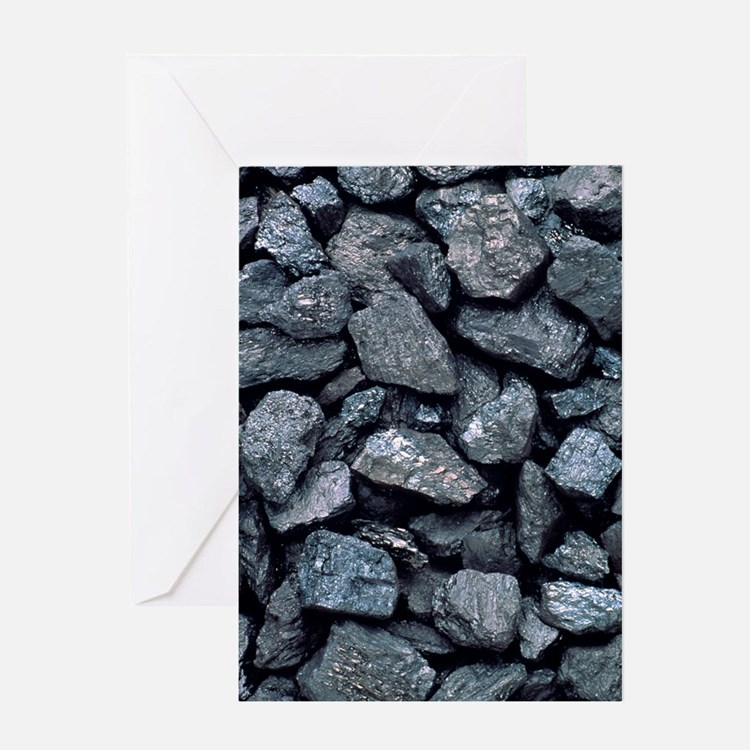 Lumps of high-grade anthracite coal Greeting Card