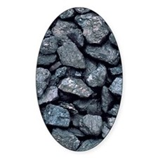 Lumps of high-grade anthracite coal Decal