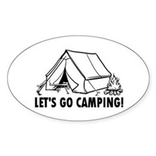 Let's Go Camping Oval Decal
