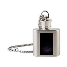 Lightning over Tucson Flask Necklace
