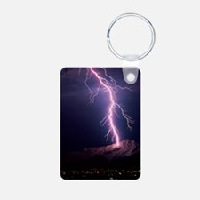 Lightning over Tucson Keychains