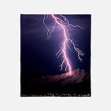 Lightning over Tucson Throw Blanket