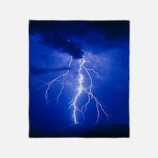 Lightning in Arizona Throw Blanket
