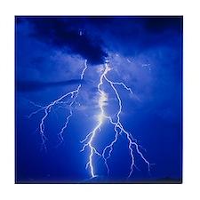 Lightning in Arizona Tile Coaster