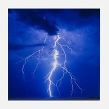 Lightning in Arizona Tile Coaster