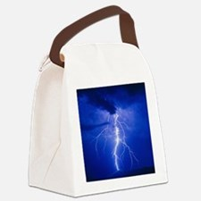 Lightning in Arizona Canvas Lunch Bag
