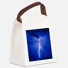 Lightning in Arizona Canvas Lunch Bag