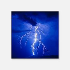 "Lightning in Arizona Square Sticker 3"" x 3"""