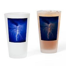 Lightning in Arizona Drinking Glass