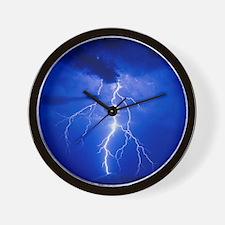 Lightning in Arizona Wall Clock