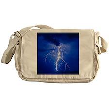 Lightning in Arizona Messenger Bag