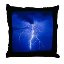 Lightning in Arizona Throw Pillow