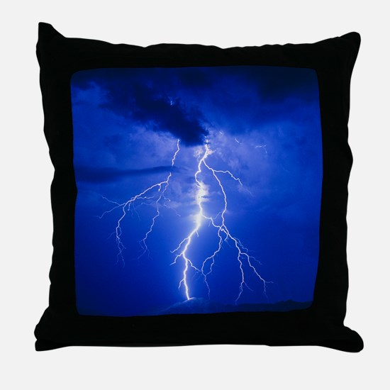 Lightning in Arizona Throw Pillow