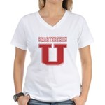 Smarterthan U. Women's V-Neck T-Shirt
