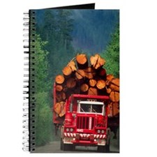 Logging truck loaded with logs Journal