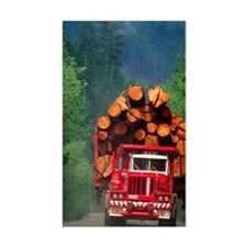 Logging truck loaded with logs Decal