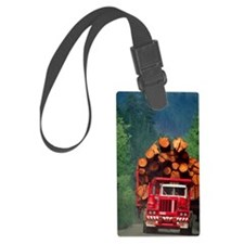Logging truck loaded with logs Luggage Tag