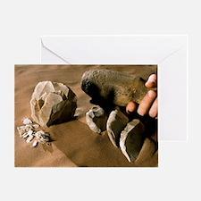 Levallois stone tools Greeting Card