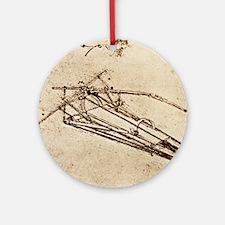 Leonardo's Ornithopter Round Ornament