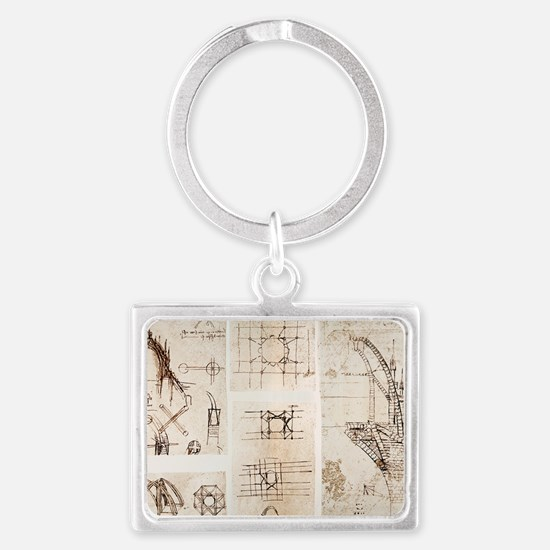 Leonardo's designs for Milan Ca Landscape Keychain