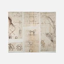 Leonardo's designs for Milan Cathedr Throw Blanket