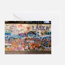 Lennon Wall, Prague Greeting Card