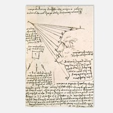Leonardo sketch of a male Postcards (Package of 8)